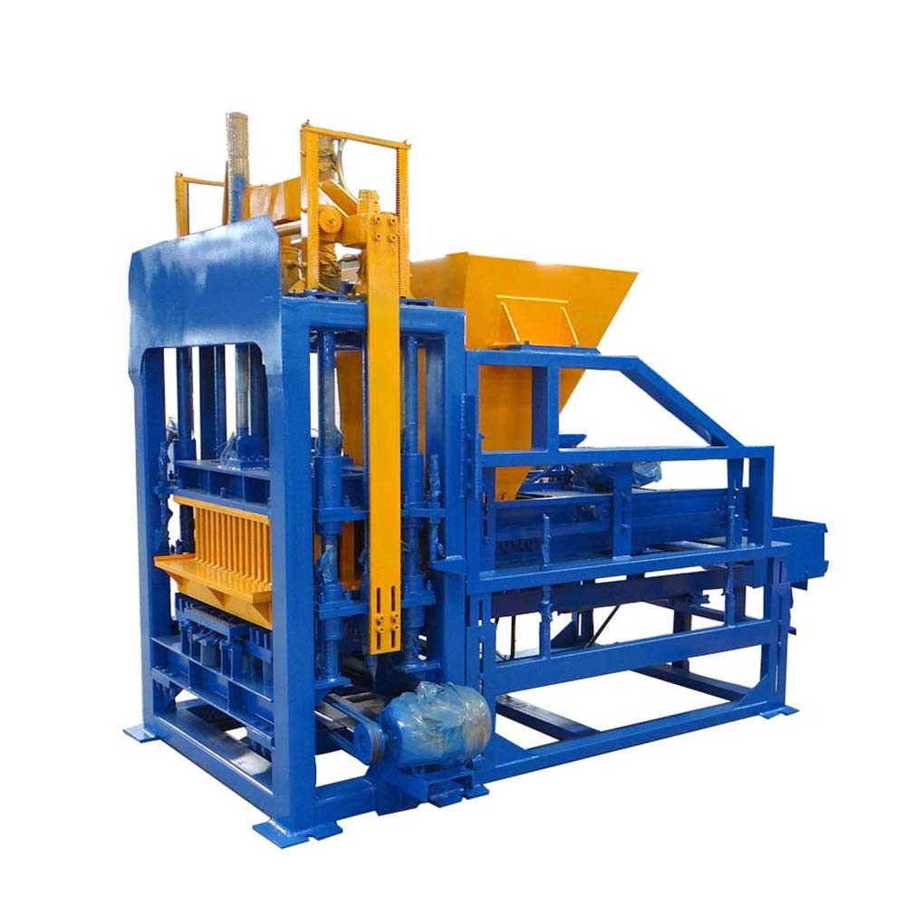 concrete interlocking block making machine