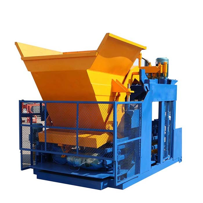 mobile concrete block machine